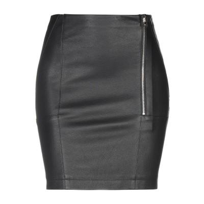 パトリツィア ペペ PATRIZIA PEPE ひざ丈スカート ブラック 40 コットン 95% / ポリウレタン 5% / 羊革(シープスキン)