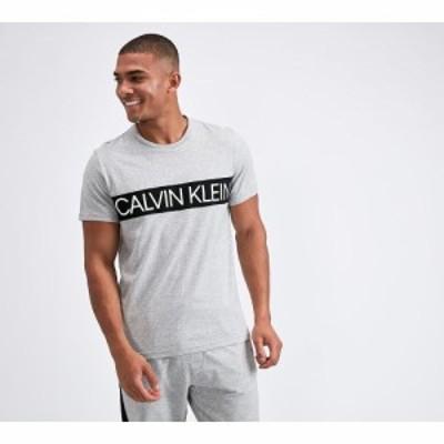 カルバンクライン Calvin Klein メンズ Tシャツ トップス lounge colour blocked logo t-shirt Grey