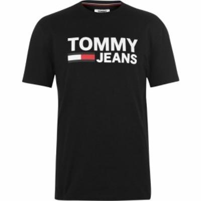 トミー ジーンズ Tommy Jeans メンズ Tシャツ トップス Tee Tommy Black