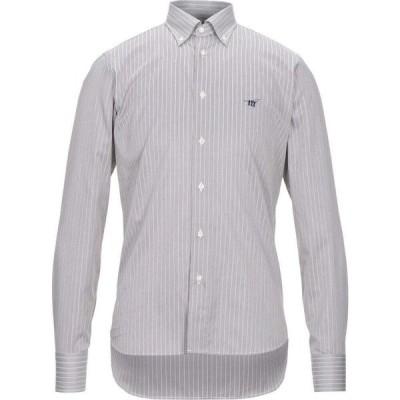 ヘンリーコットンズ HENRY COTTON'S メンズ シャツ トップス striped shirt Dark brown