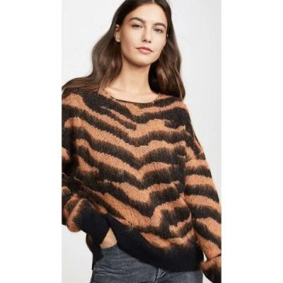 ヌード NUDE レディース ニット・セーター トップス Round Neck Sweater Black/Orange