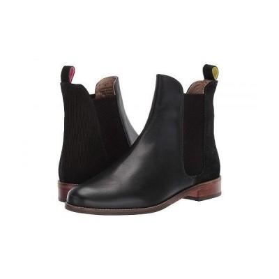 Joules レディース 女性用 シューズ 靴 ブーツ チェルシーブーツ アンクル Westbourne - Black Emboss