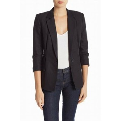 Blazer ブレザー ファッション 衣類 Joie Womens Collared Black Size 4 Blazer Single-Button Jacket
