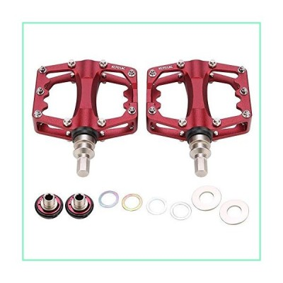 KSTE Bicycle Pedal Quick Release for Mountain Road Bike Cycling Accessory(Red)【並行輸入品】