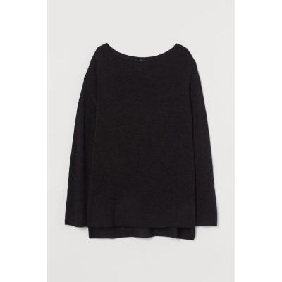 H&M - ルーズニットセーター - ブラック