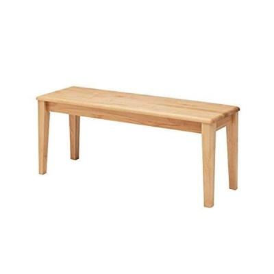 ISSEIKI ダイニングベンチ 二人掛け用 リビングインテリア 椅子(幅100cm×奥行35×高さ42cm)ナチュラル 天然木 木?