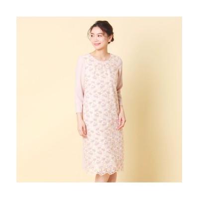 Rose Tiara/ローズティアラ トルコレース刺繍ワンピース ピンク 40