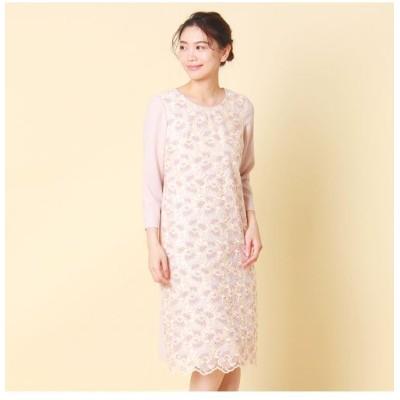 Rose Tiara/ローズティアラ トルコレース刺繍ワンピース ピンク 42
