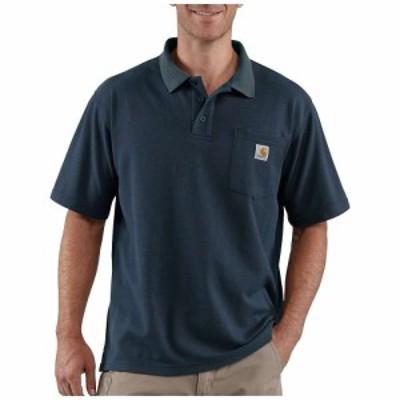 カーハート Carhartt メンズ ポロシャツ ポケット トップス contractors work pocket polo t-shirt Navy