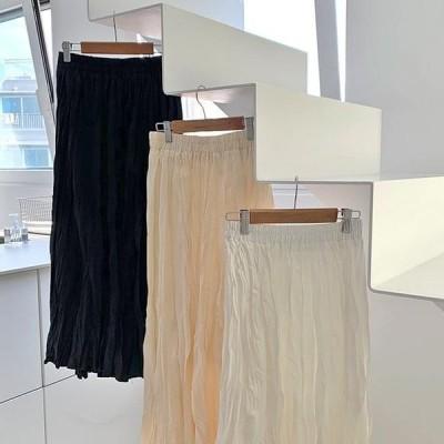 レディース スカート Day wrinkle long skirt