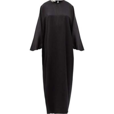 ラ コレクション La Collection レディース ワンピース マキシ丈 ワンピース・ドレス Epione silk-charmeuse maxi dress Black