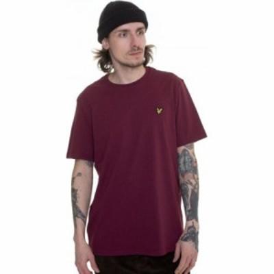 ライル アンド スコット Lyle and Scott メンズ Tシャツ トップス - Plain Merlot - T-Shirt burgundy