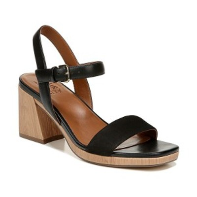 ナチュライザー レディース サンダル シューズ Rose Ankle Strap Sandals Black Leather