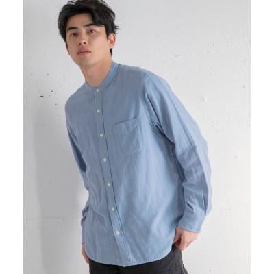 【コーエン】 ダブルガーゼバンドカラーシャツ メンズ LTBLUE MEDIUM coen