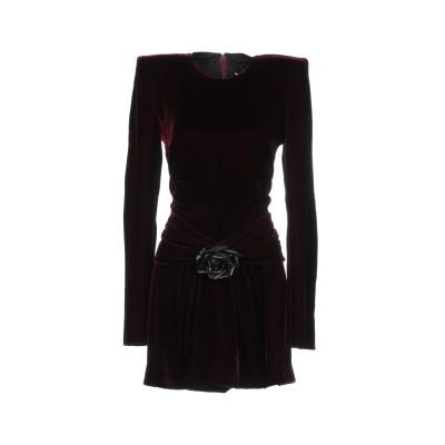 SAINT LAURENT ミニワンピース&ドレス ボルドー 36 65% レーヨン 35% キュプラ ミニワンピース&ドレス