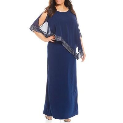 イグナイト レディース ワンピース トップス Plus Size Asymmetric Popover Long Dress