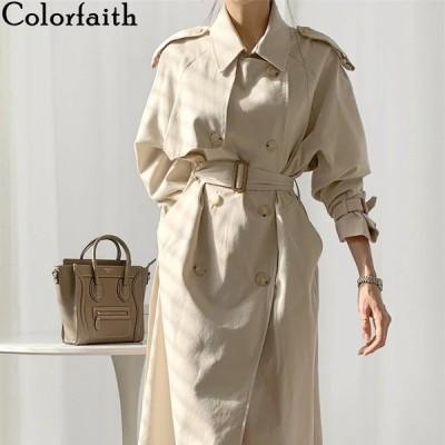 海外輸入アパレル Colorfaith New 2021 Spring Autunm Women's Windbreaker Elegant