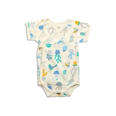 baby ampersand 鳥とサボテン柄ボディーシャツ キナリ 80cm