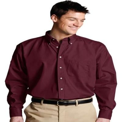 メンズ 衣類 トップス Edwards Garment Men's Long Sleeve Button Down Poplin Shirt Style 1280 Tシャツ