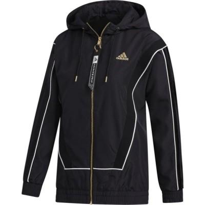 アディダス adidas レディース バスケットボール ジャケット アウター Olympic Basketball Jacket Black