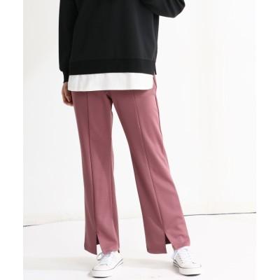 (Honeys/ハニーズ)裾スリットパンツ/レディース パープル