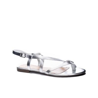 チャイニーズ ランドリー サンダル シューズ レディース Chinese Laundry Women's Active Open Toe Flat Sandal Silver