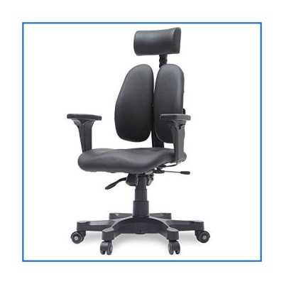 [Duorest Gold Leather Ergonomic Office Chair with Twin Backrests] - Duorest System for Proper Posture l ergonomic office chair lumbar suppor