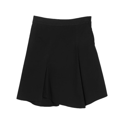 DOUUOD ひざ丈スカート ブラック 44 コットン 88% / ポリウレタン 12% ひざ丈スカート