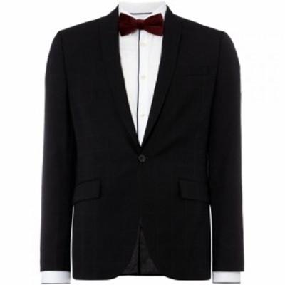 ケネス コール Kenneth Cole メンズ スーツ・ジャケット アウター Savannah Tonal Shadow Check Suit Jacket Black