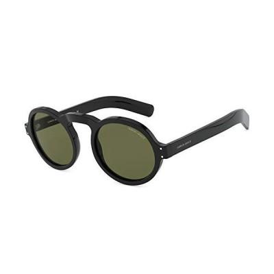 Giorgio Armani Man Sunglasses, Black Lenses Acetate Frame, 49mm【並行輸入品】