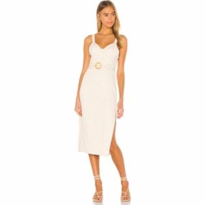 ソング オブ スタイル Song of Style レディース ワンピース ミドル丈 ワンピース・ドレス Paulina Midi Dress Beige Check