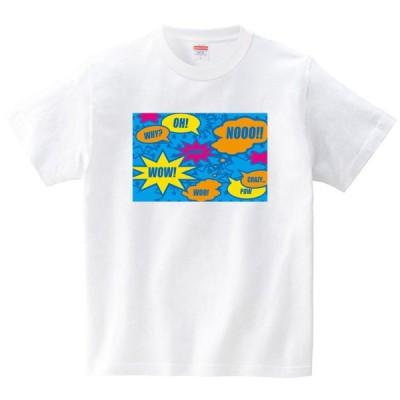 [itaxes] コミックBLUE [Tシャツ・ホワイト](フォーヴァ)