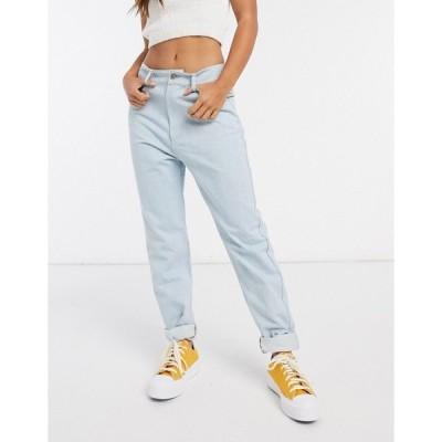 デイジーストリート レディース デニムパンツ ボトムス Daisy Street high waist mom jeans in light wash denim Light wash blue