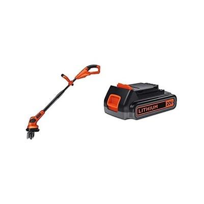 送料無料 BLACK+DECKER 20V MAX Garden Cultivator/Tiller with Lithium Battery 2.0 Amp