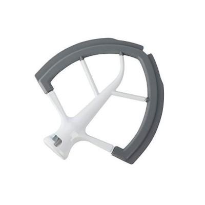6 Quart Flex Edge Beater Paddle with Flexible Silicone Bowl Scraper For 6 Q