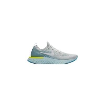 ナイキ レディース ランニングシューズ Nike Epic React Flyknit リアクト フライニット Pure Platinum/White/Volt Glow