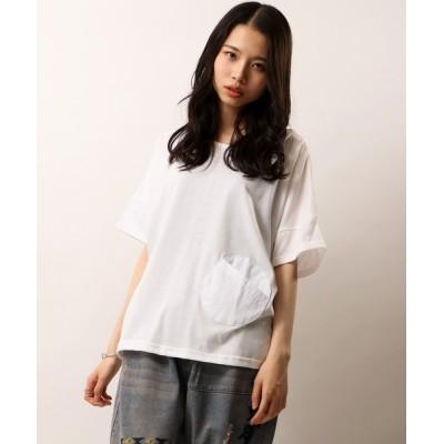 FUNALIVE / 【Chumandor】ポケット布帛切替チュニックTシャツ WOMEN トップス > Tシャツ/カットソー