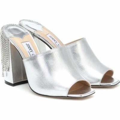 ジミー チュウ Jimmy Choo レディース サンダル・ミュール シューズ・靴 Baia 100 embellished leather sandals Silver/Crystal
