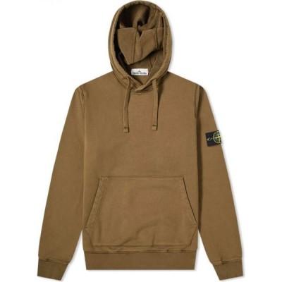 ストーンアイランド Stone Island メンズ パーカー トップス garment dyed popover hoody Olive Green
