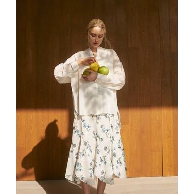 (TheVirgnia/ザ ヴァージニア)デジタルフラワー柄スカート/レディース オフホワイト