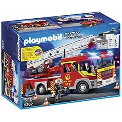 【中古】【輸入品・未使用】PLAYMOBIL 5362 Fire Engine Ladder Play Set [