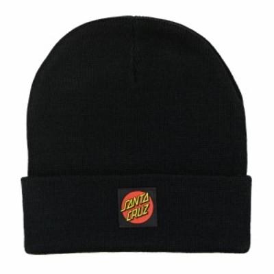 サンタクルーズ Santa Cruz メンズ ニット ビーニー 帽子 Classic Label Dot Beanie Black