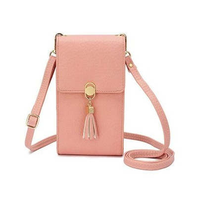 KOFNEKA Small Crossbody Bag Cell Phone Purse Wallet with Credit Card Slots for Women (Pink)【並行輸入品】