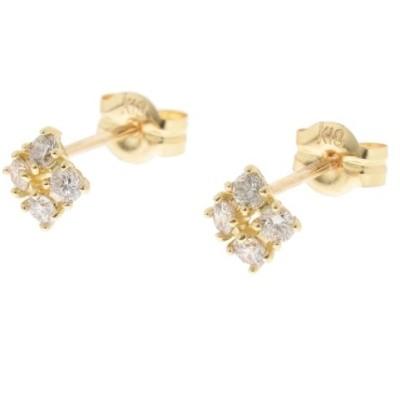 COCOSHNIK/ココシュニック K18ダイヤモンド爪留4石 スタッドピアス イエローゴールド(104) 00