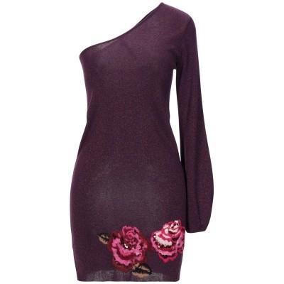 マニラ グレース MANILA GRACE ミニワンピース&ドレス ディープパープル 1 レーヨン 70% / ナイロン 15% / ポリエステル