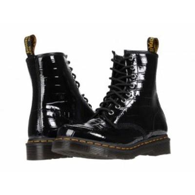 Dr. Martens ドクターマーチン レディース 女性用 シューズ 靴 ブーツ レースアップ 編み上げ 1460 Black Patent Lamper【送料無料】