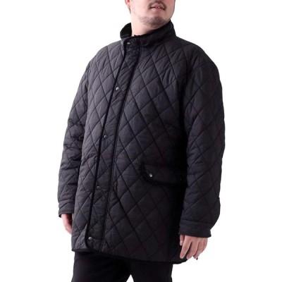 [ルイシャブロン] キルティングジャケット メンズ おおきいサイズ コート ジャケット アウター カジュアル ブルゾン 無地 中綿 撥水加工 ブラック