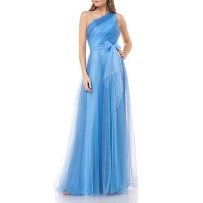 カルメンマークバルボ レディース ワンピース トップス One-Shoulder Two-Tone Tulle Gown