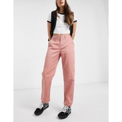 バンズ レディース カジュアルパンツ ボトムス Vans Authentic chino pants in pink Rose dawn