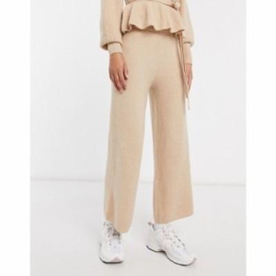 エイソス ASOS DESIGN レディース ボトムス・パンツ Co-Ord Knitted Straight Leg Trouser オートミール